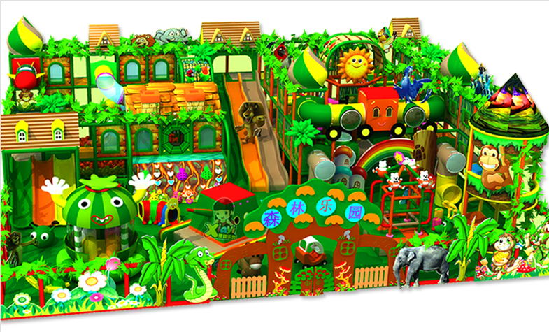 淘气堡森林主题图片展示