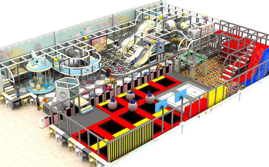 我们专注儿童淘气堡游乐设备研发制造10年
