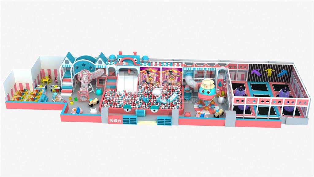 淘气堡马卡龙系列儿童乐园效果图